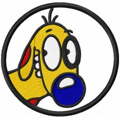 Dog nickelodeon embroidery design