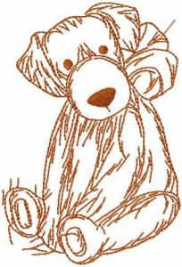Dog toy sketch free embroidery design
