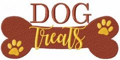 Dog treats embroidery design