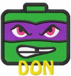 Don chibi embroidery design