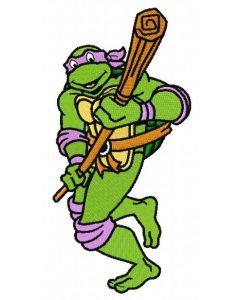 Donatello attacks embroidery design