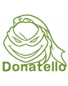 Donatello sketch embroidery design