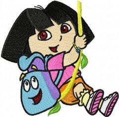 Dora the Explorer Hero embroidery design