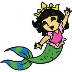 Dora the Explorer Mermaid embroidery design