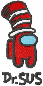 Dr Sus embroidery design