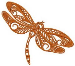 Dragonfly machine embroidery design 4