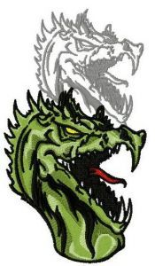 Dragon's shadow 10 embroidery design