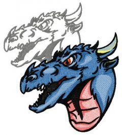 Dragon's shadow 7 embroidery design