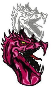 Dragon's shadow 9 embroidery design