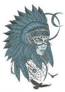 Dream keeper embroidery design