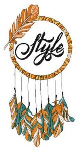 Dreamcatcher style embroidery design