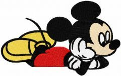 Dreaming mickey embroidery design