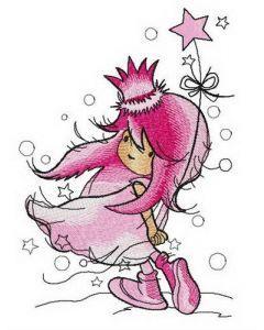 Dreamy princess embroidery design