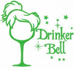 Drinkerbell embroidery design