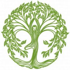 Dryad embroidery design
