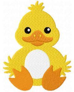 Duck Easter egg holder free embroidery design