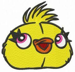 Ducky head embroidery design