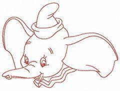Dumbo elephant embroidery design