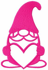 Dwarf with heart free embroidery design