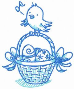 Easter bird songs embroidery design