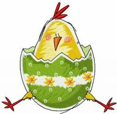 Easter chicken 2 embroidery design