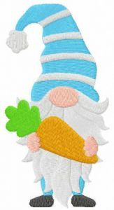 Easter gnome with carrot embroidery design