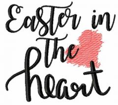 Easter in the heart embroidery design