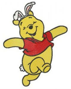 Easter Winnie embroidery design