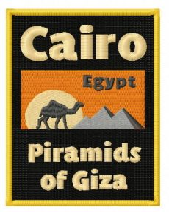 Egypt badge embroidery design