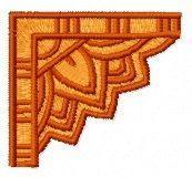 Egyptian corner ornament embroidery design
