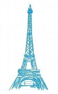 Eiffel Tower 5 embroidery design