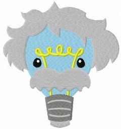 Einstein bulb lamp free embroidery design