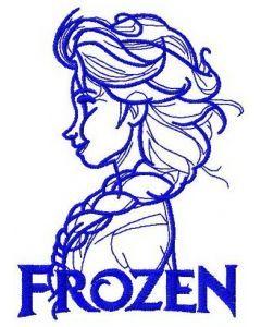 Elsa sketch machine embroidery design 7