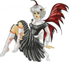 Modern Fairy Gothic embroidery design