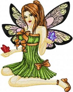 Modern Fairy 7 embroidery design
