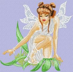 Forest Queen embroidery design