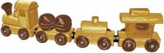 Wooden Train embroidery design