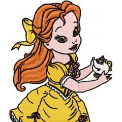 Little Princess Beauty and the Beast embroidery design