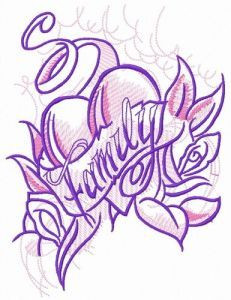 Family 1 embroidery design