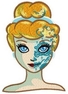 Fancy Cinderella embroidery design