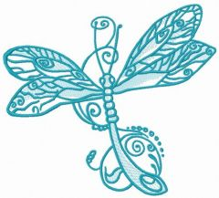 Fancy dragonfly 2 embroidery design