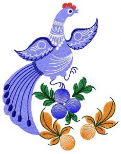 Fantastic bird and berries 2 free embroidery design