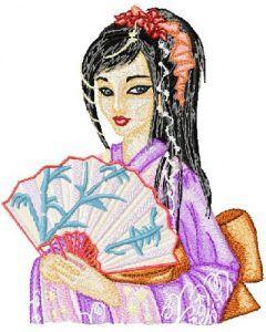 Fantastic Geisha embroidery design