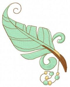 Feather 25 embroidery design