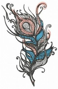 Feather 34 embroidery design