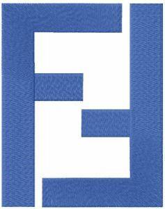 Fendi classic logo embroidery design
