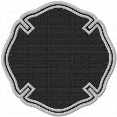 Fire department template embroidery design