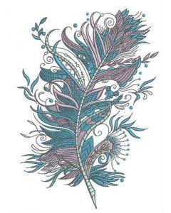 Firebird's feather embroidery design