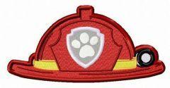 Fireman's helmet embroidery design