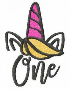 First Birthday Unicorn free embroidery design